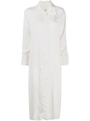Классическое платье макси на пуговицах с V-образным вырезом с воротником Raquel Allegra