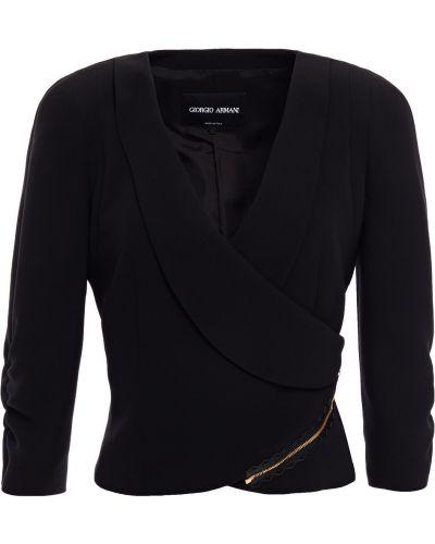 Текстильная черная куртка с подкладкой Giorgio Armani