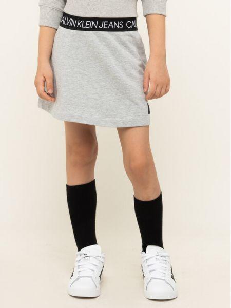 Szara spódnica Calvin Klein Jeans