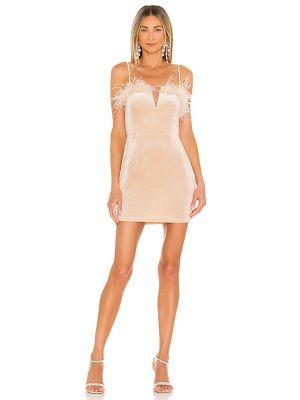 Sukienka mini - beżowa Superdown