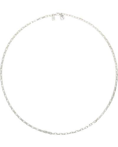 Biały naszyjnik srebrny Numbering