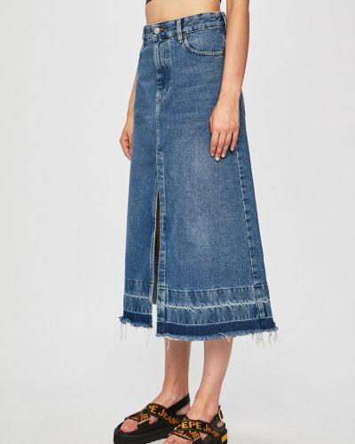 Юбка миди джинсовая на пуговицах Diesel