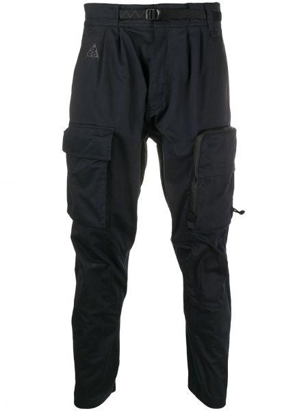 Хлопковые черные брюки карго с низкой посадкой Nike