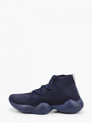 Текстильные высокие кроссовки - синие Kazar Studio