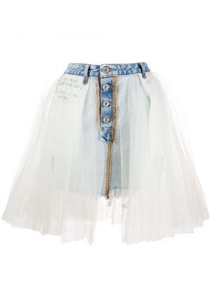 Юбка мини джинсовая с завышенной талией Unravel Project