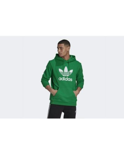 Zielona bluza z kapturem Adidas