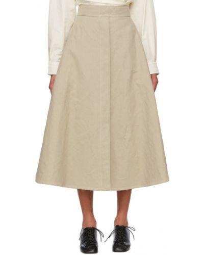 Bawełna beżowy bielizna spódnica z kieszeniami Lemaire