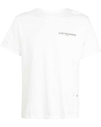 T-shirt bawełniany z printem krótki rękaw Garçons Infideles