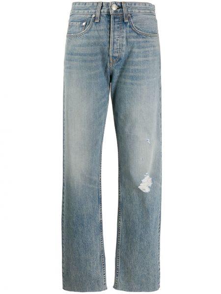 Прямые джинсы синие с эффектом потертости Rag & Bone