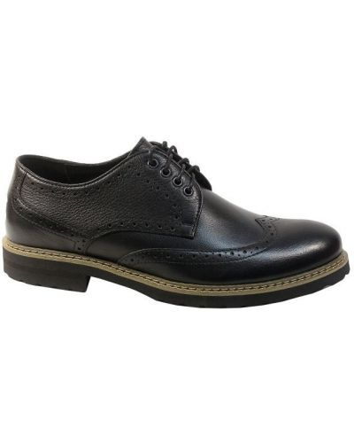Кожаные туфли - черные Tonkelli