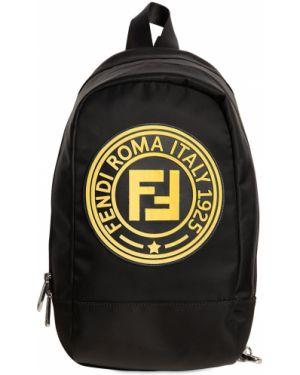 Plecak z logo brezentowy Fendi