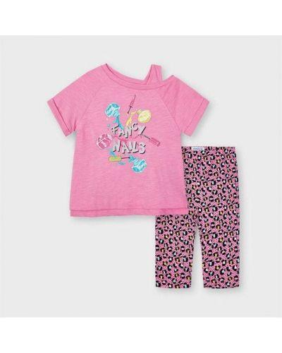 Różowy t-shirt Mayoral