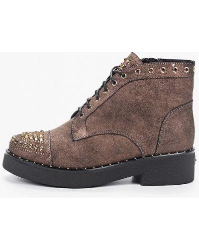 Коричневые кожаные ботинки Graciana