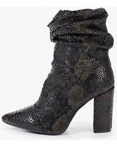 Текстильные черные туфли Ideal Shoes®