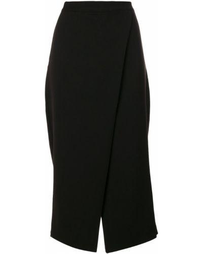 Черные укороченные брюки с поясом Ioana Ciolacu
