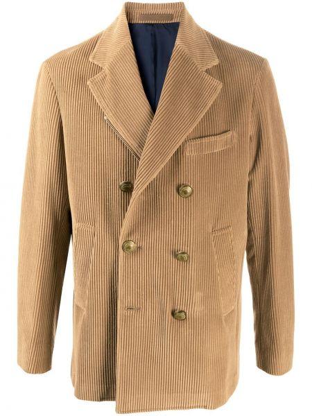 Кашемировое пальто классическое на пуговицах двубортное Eleventy
