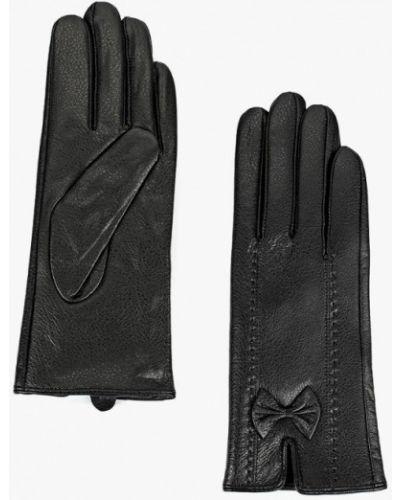 Черные кожаные перчатки Keddo