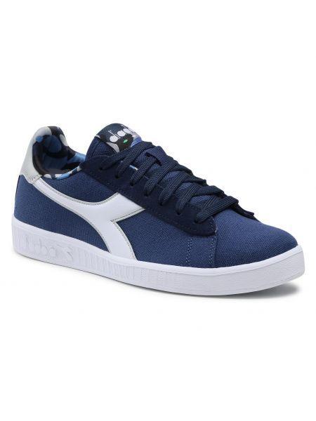 Buty sportowe skorzane - niebieskie Diadora