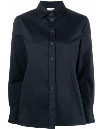 Хлопковая синяя классическая рубашка с длинными рукавами Lardini