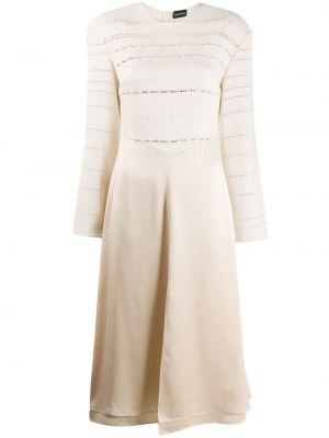 Прямое шелковое с рукавами платье миди Magda Butrym