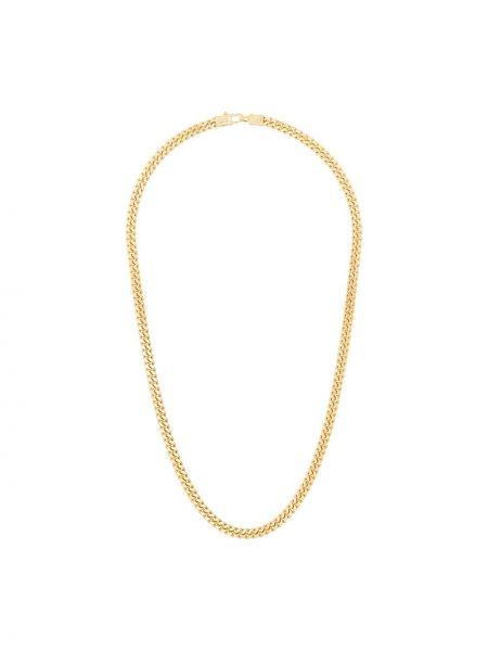 Золотистое желтое ожерелье позолоченное Tom Wood