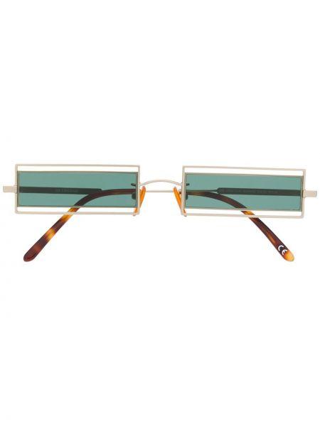 Муслиновые желтые солнцезащитные очки прямоугольные Han Kjøbenhavn