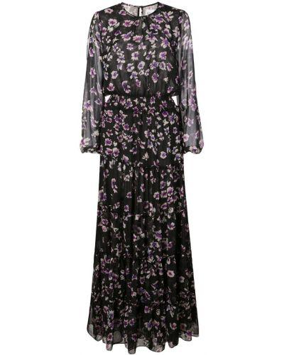 Платье миди с цветочным принтом с вырезом Misa Los Angeles