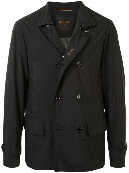 Długa kurtka sportowa czarna Moorer