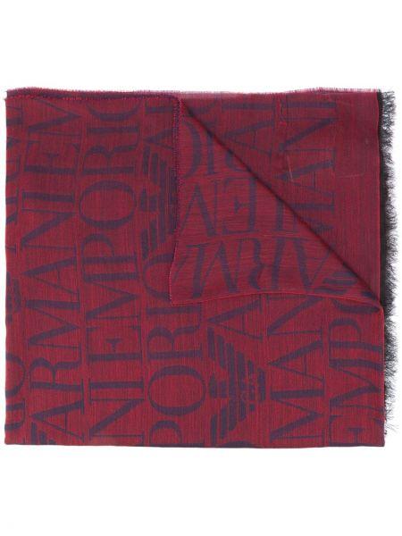 Fioletowy szalik wełniany Emporio Armani