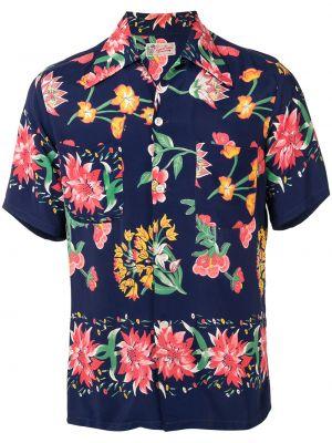 Koszula krótkie z krótkim rękawem klasyczna ciemnoniebieski Fake Alpha Vintage