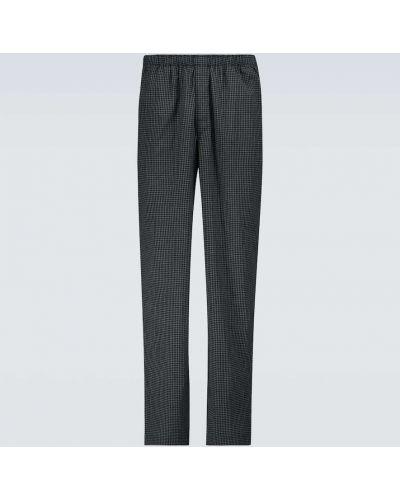 Czarne spodnie bawełniane Sunspel