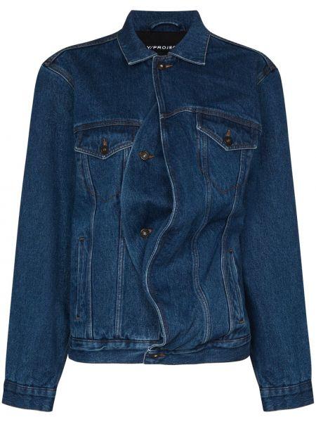 Хлопковая синяя джинсовая куртка с воротником Y/project