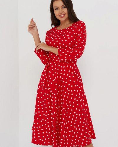 Повседневное красное платье A.karina