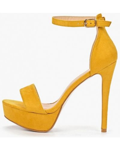 Босоножки желтый на каблуке Bellamica