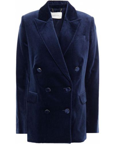 Бархатный пиджак двубортный с карманами Zimmermann