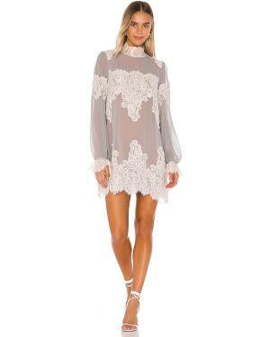 Szara sukienka srebrna Hah