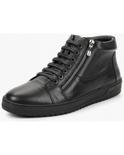 Высокие кеды черные кожаный Guido Grozzi