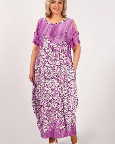 Платье бохо с разрезом из вискозы милада