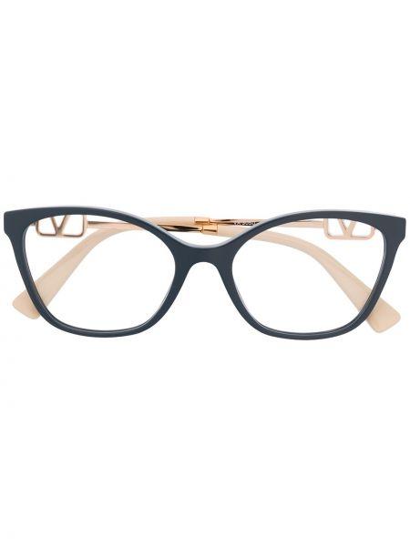 Очки квадратные металлические хаки Valentino Eyewear
