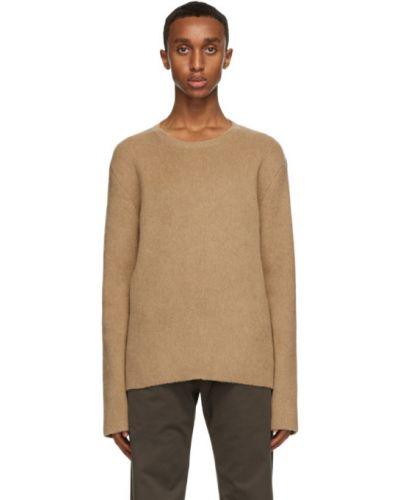 Długi sweter wełniany z długimi rękawami The Row