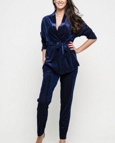Костюмный бархатный темно-синий костюм инсантрик