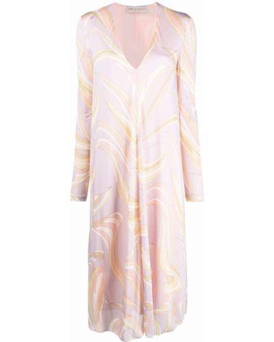 Розовое платье из вискозы Emilio Pucci
