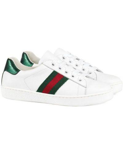 Кеды белые Gucci Kids