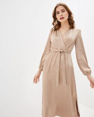 Платье с запахом бежевое Zarina