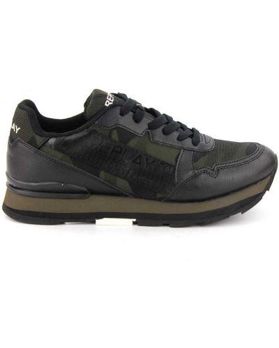 Szare buty sportowe skorzane Replay