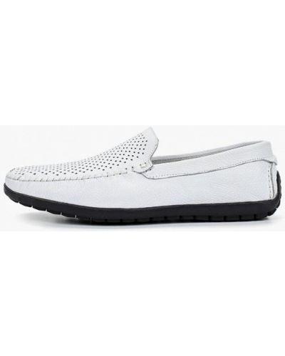 Мокасины кожаные белый Dino Ricci Trend