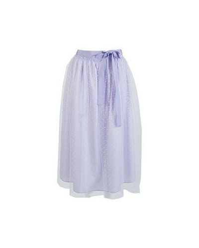 Фиолетовая весенняя юбка Valentino Red