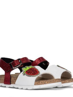 Białe sandały skorzane Monnalisa