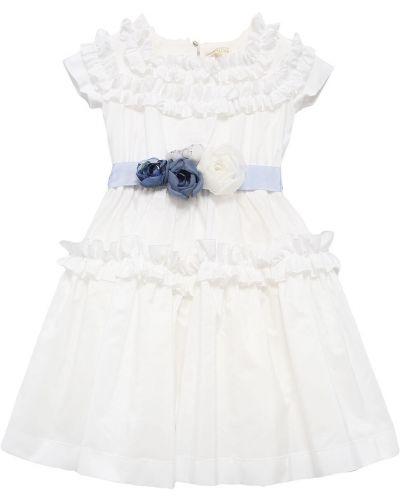 Платье на пуговицах - белое Monnalisa