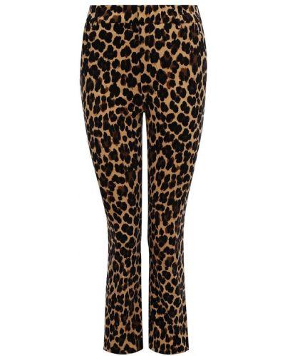 Укороченные джинсы расклешенные леопардовые Frame Denim